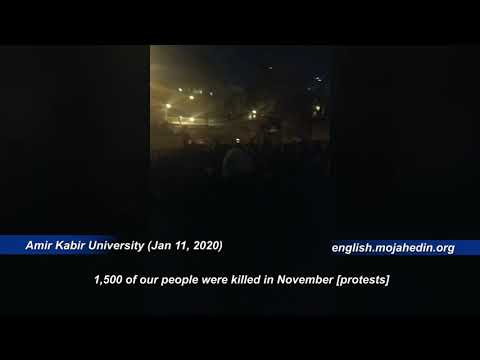 "Iranian protesters at Amir Kabir University chant ""Death to dictator"""