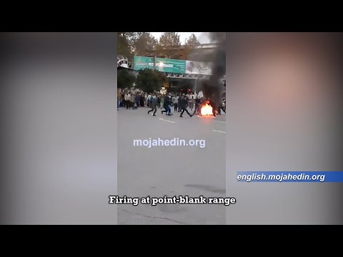 Shocking: Iranian security forces directly shoot unarmed protester - Iran protests 2019
