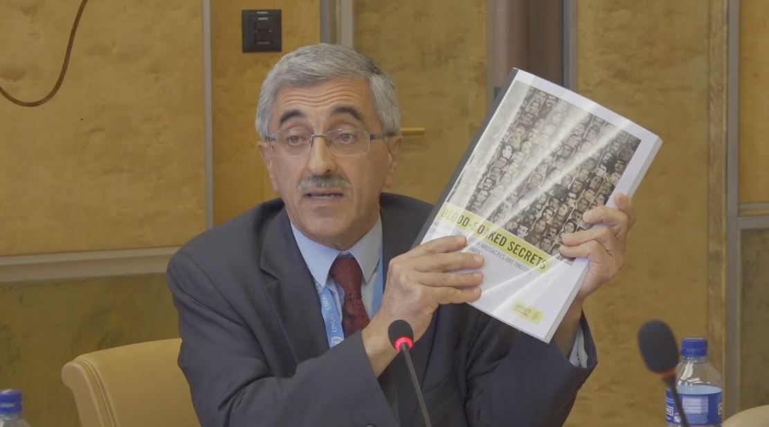 "Mr. Behzad Naziri, member of the Foreign Affairs Committee of NCRI, speaking at the ""Human Rights Condition in Iran"" Conference held in Geneva-September 20, 2019"