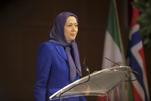 Maryam Rajavi speaks at Oslo conference on human rights in Iran