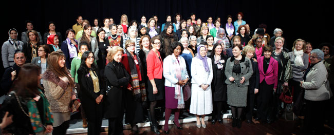 Maryam Rajavi at International Women's Day conference in Paris. March 1, 2014