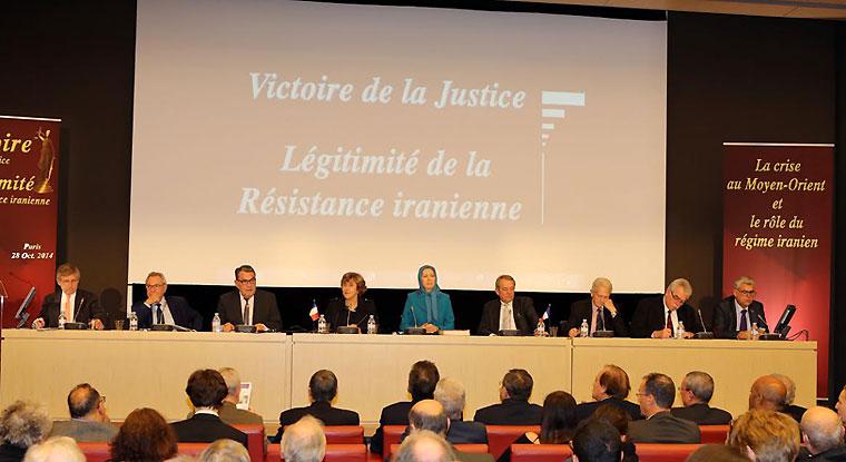 Maryam Rajavi, Iranian opposition leader attending a conference at the French National Assembly, October 29, 2014