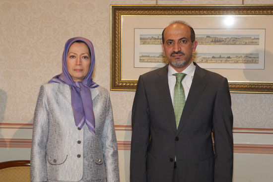 Maryam Rajavi en Ahmad Jarba