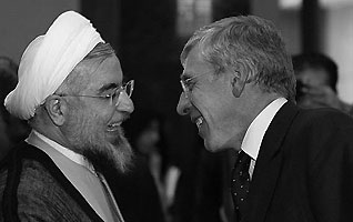 Hassan Rouhani en Jack Straw