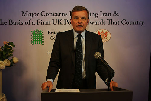 David Jones MP, conference on Iran policy in House of Commons, September 15, 2015