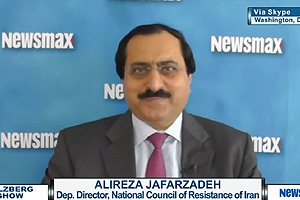 Alireza Jafarzadeh, deputy director of the US Representative Office of the National Council of Resistance of Iran (NCRI) speaking on Newsmax TV, July 2, 2015