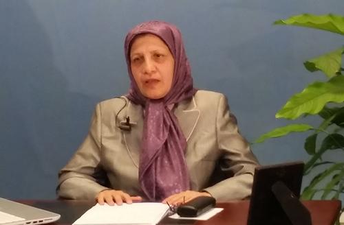Elaheh Azimfar, a representative of the National Council of Resistance of Iran (NCRI)