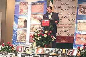 Iranian-American community in Los Angeles on August 16 gather to remember the victims of the 1988 massacre of political prisoners in Iran