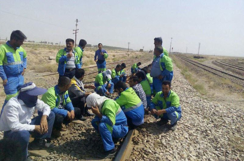 Rail Workers Strike Over Unpaid Wages Continues