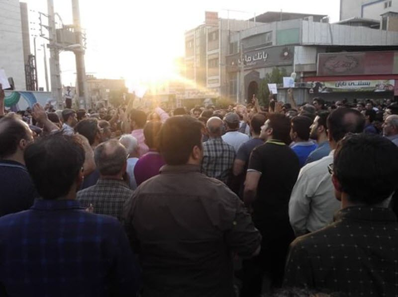 Iran Protests in Borazjan