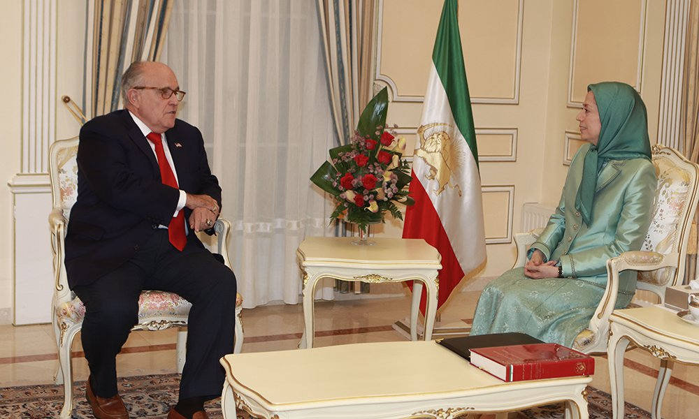 Maryam Rajavi met this evening with Rudy Giuliani