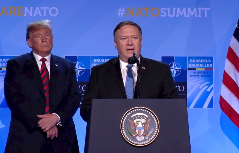 Mike Pompeo urged European countries to support American plans to cut Iran regime off from world energy markets