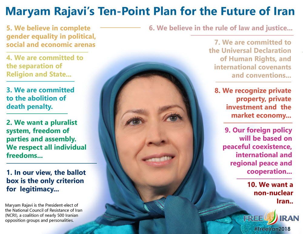 aryam Rajavi's Ten Point Plan for Future Iran