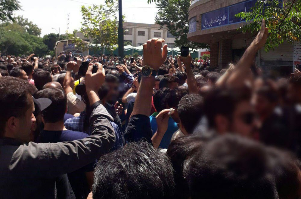 Uprising of the people of Tehran with the slogans: Death to Khamenei; Death to the principle of Velayat-e Faqih;
