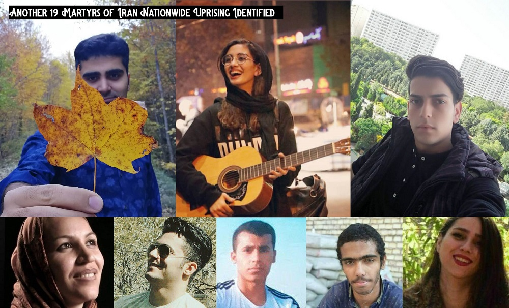 Another 19 Martyrs of Iran Nationwide Uprising Identified