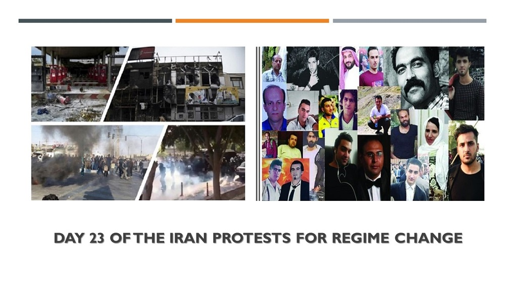 Day 23 of the Iran Protests for Regime Change