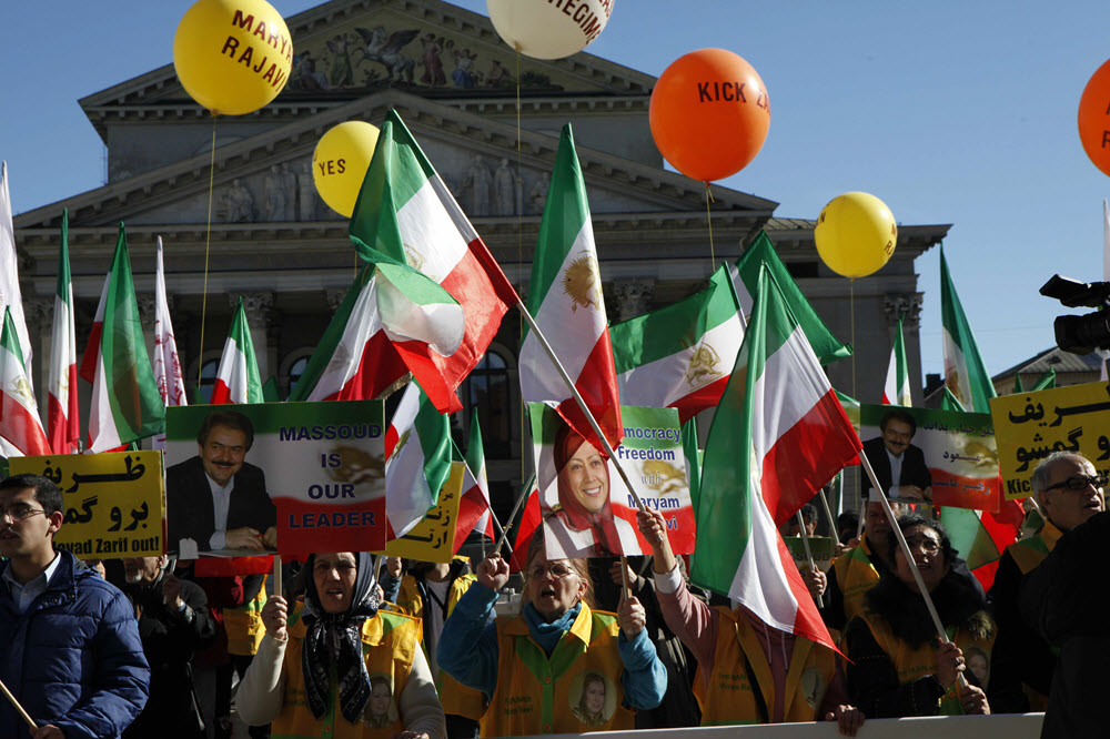 IRAN: MEK Supporters Urge Munich Security Conference to Expel Zarif