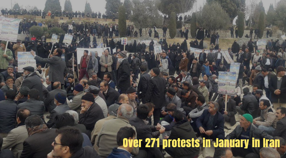 Over 271 protests in January in Iran