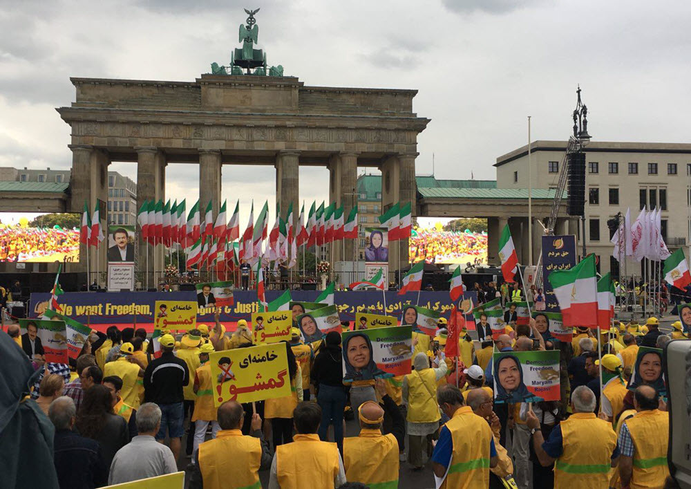 Huge March in Berlin for Regime Change in Iran