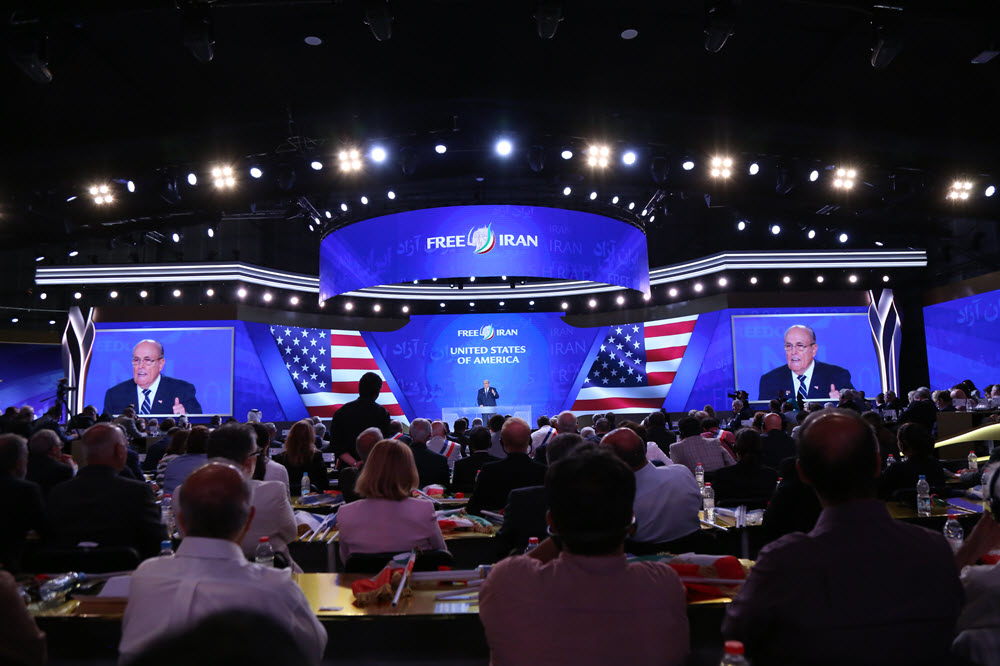 At MEK Rally, Giuliani Tells Iran Regime's Leaders: You Are Mass Murderers, 'You Have to Go!'