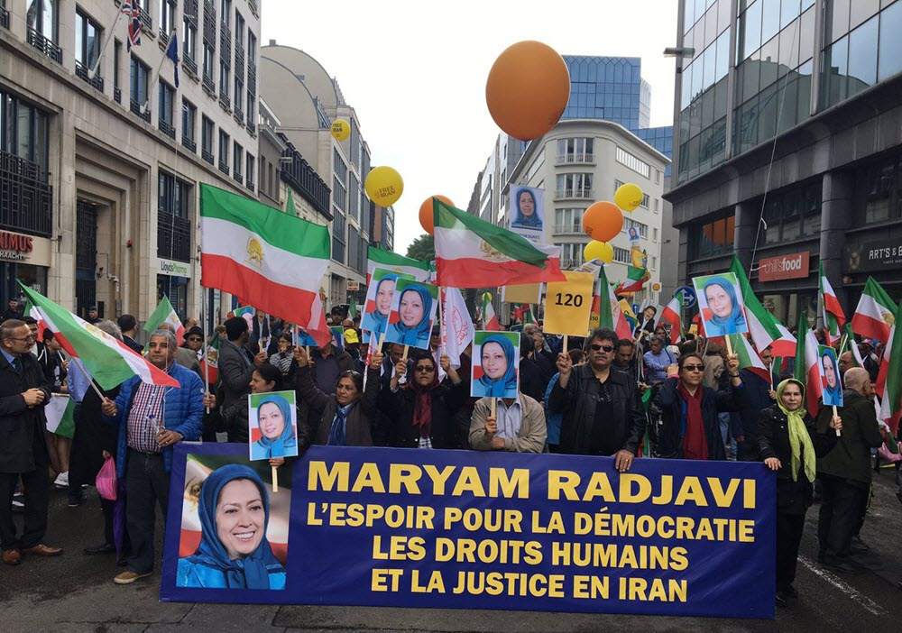 Free Iran march in Brussels