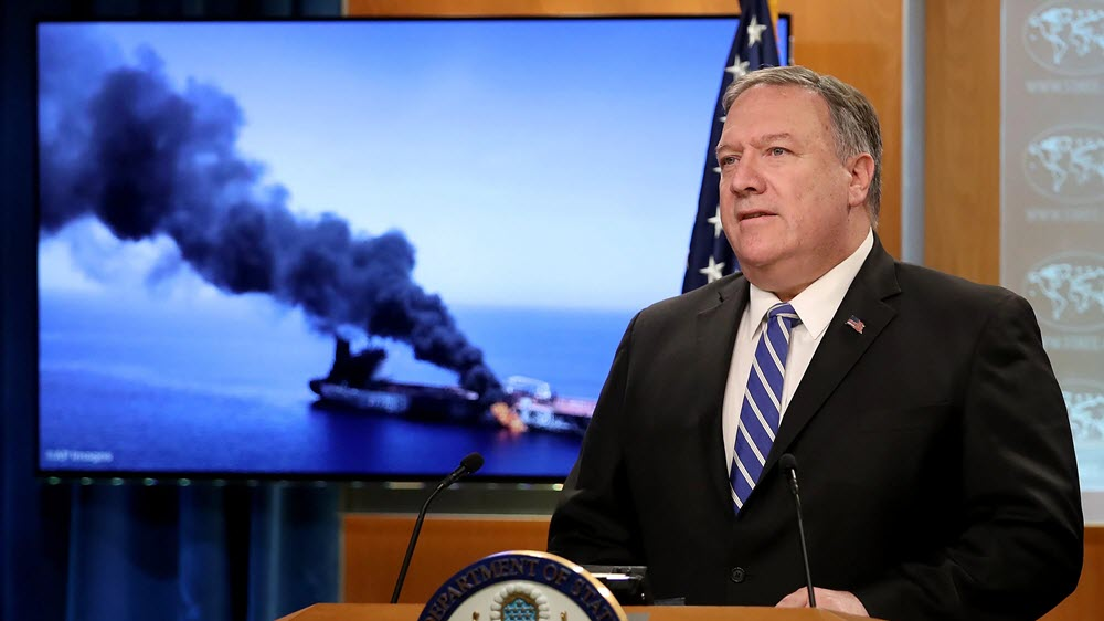 Pompeo: Iranian Regime Responsible for Tanker Attacks