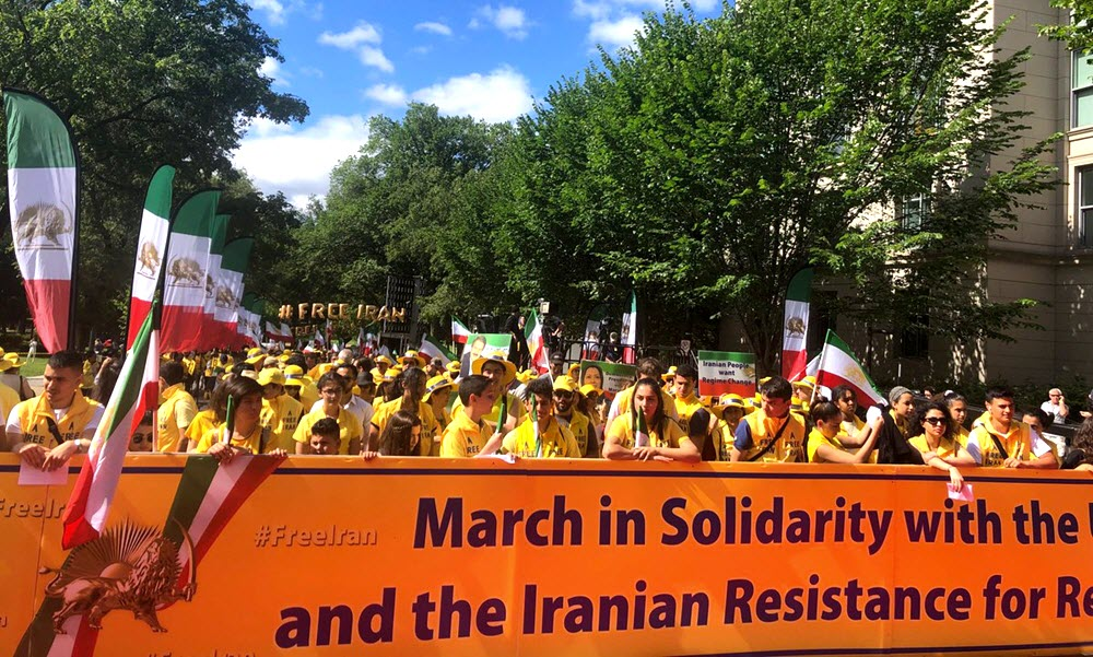 Iranian-Americans March in DC for a Free Iran