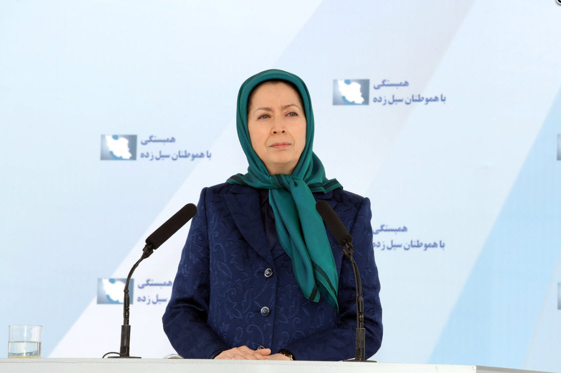 Mrs. Rajavi Calls to the Youth to Form Popular Councils and to Provide Independent Assistance to Flood Victims