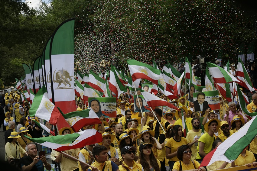 Massive Free Iran Rally in Washington D.C. in support of the uprising and the popular alternative to the Iranian dictatorship, the National Council of Resistance of Iran (NCRI)-June 21, 2019