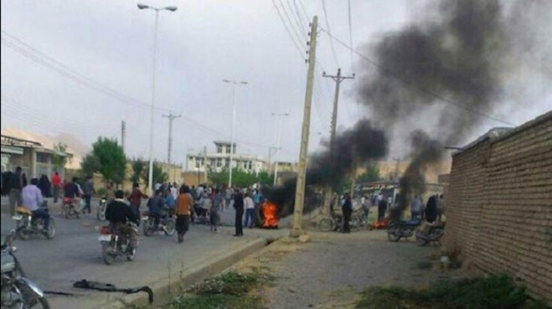 Protest rally in the town of Beldaji, Chaharmahal & Bakhtiari Province, southern Iran (File Photo)