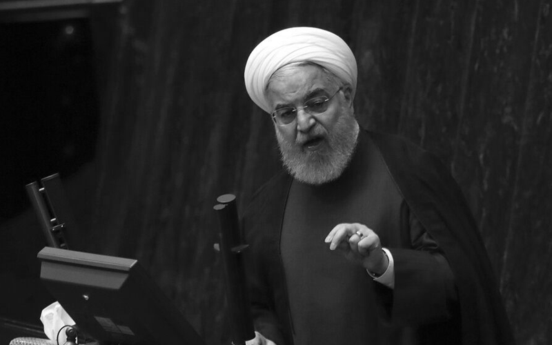 The regime's President Hassan Rouhani