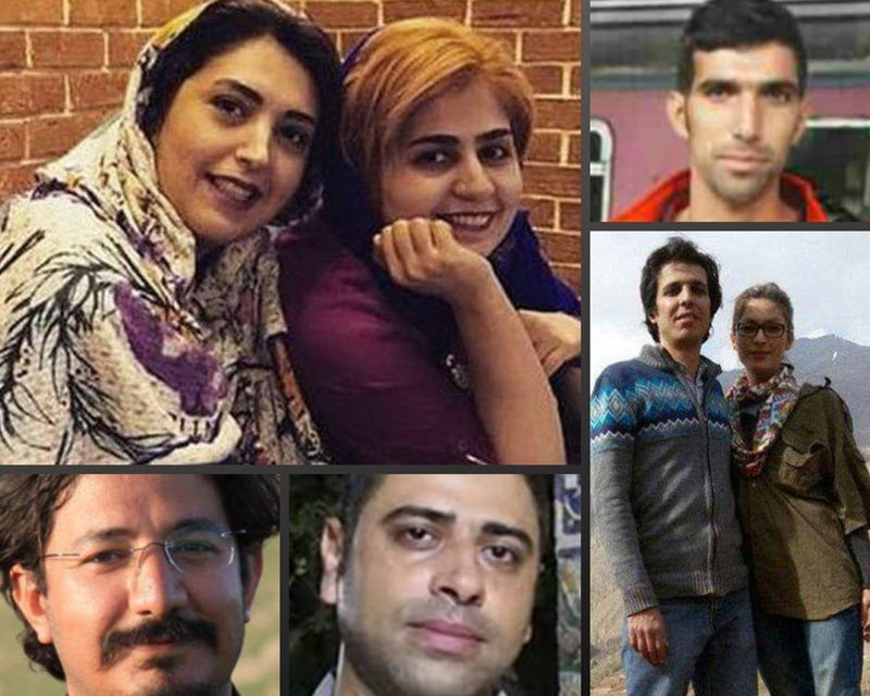 "Sepideh Qolian, Amir Amirqoli, Asal Mohammadi, Amir Hossein Mohammadi Fard, and Sanaz Allahyari were each sentenced to 18 years of prison on the charges of ""assembly and collusion to act against national security"", ""membership in the Gam"" (a publication they wrote for), ""spreading propaganda against the state"", and ""publishing lies""."
