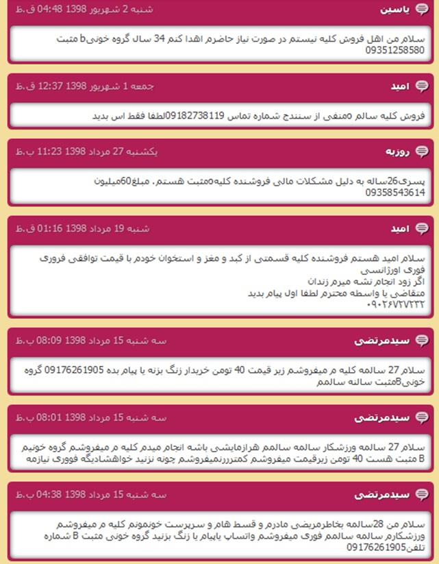 Kidney sale Iran
