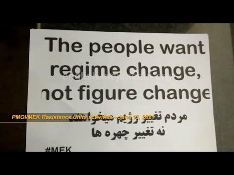 MEK Resistance Units campaign against Iran sham election and Ebrahim Raisi