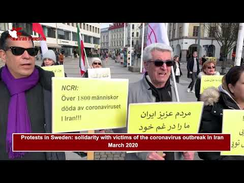Protests in Sweden: solidarity with victims of the coronavirus outbreak in Iran