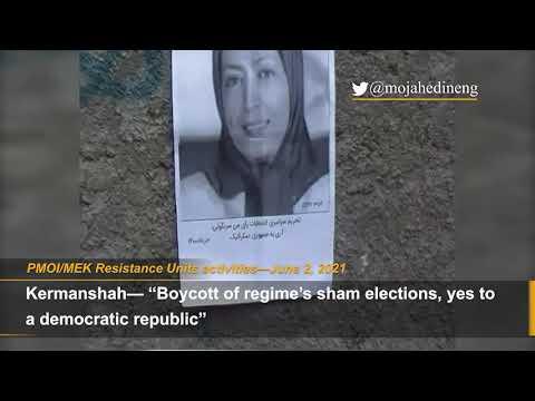 "Iranian opposition PMOI/MEK network promoting call to boycott regime's sham presidential ""election"""