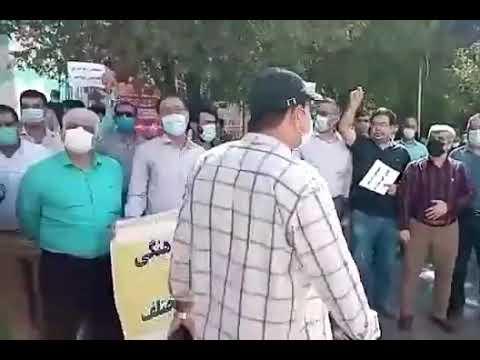 تجمع اعتراضی معلمان و آموزگاران در خوزستان