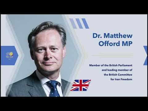 Dr. Matthew Offord's remarks to the Free Iran Global Summit – July 17, 2020