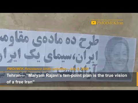 """Maryam Rajavi's ten point plan is the true vision of a free Iran"" MEK Resistance Units"