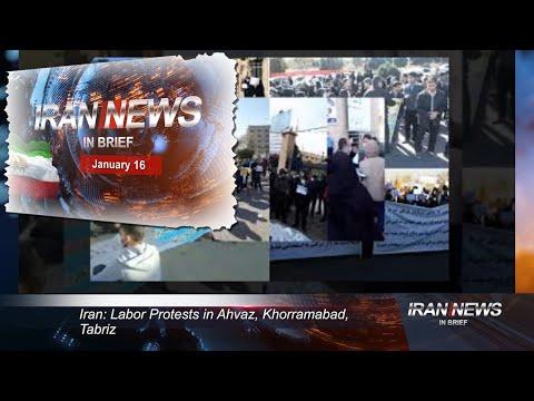 Iran news in brief, January 16, 2021