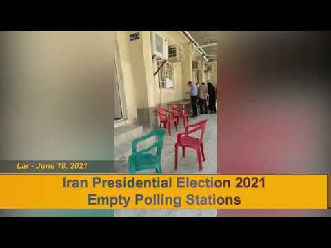 Many election polls in Babolsar, Lar, and Shiraz are empty and people boycott the election in Iran