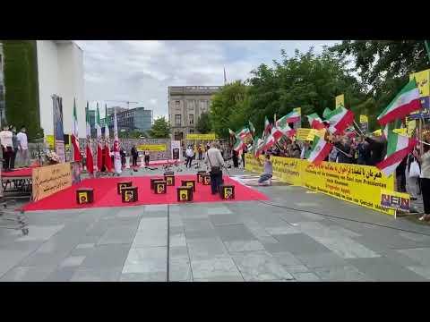 تظاهرات ایرانیان آزاده در مونستر آلمان ۱۲مرداد۱۴۰۰