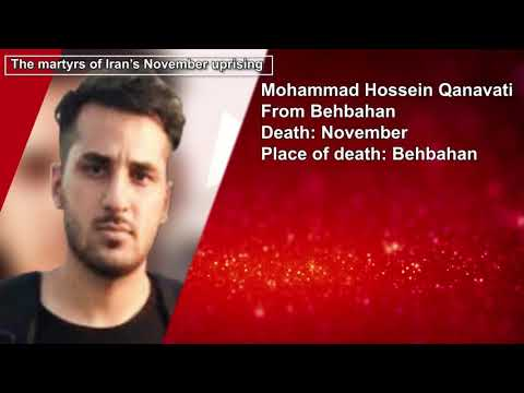 Martyrs of Iran protests 2019 - Civilians killed by security forces - November 2019 - Part 1