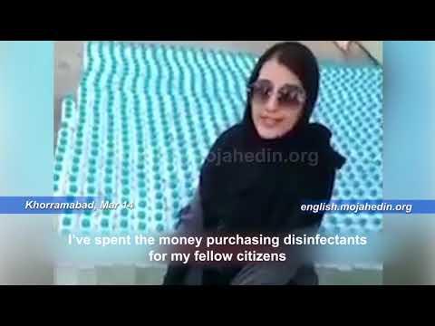 What an Iranian girl did during coronavirus outbreak