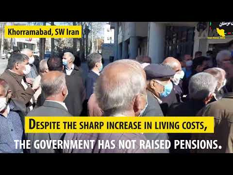 Iran Pensioners protests on Feb 21