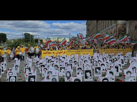 تظاهرات ایرانیان آزاده در استهکلم