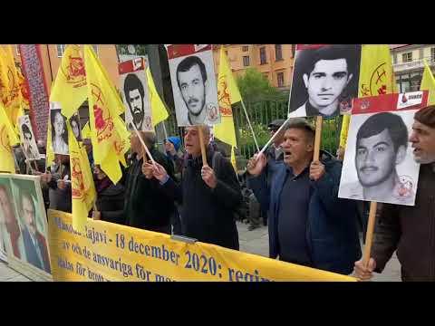 تظاهرات ایرانیان آزاده و هواداران سازمان مجاهدین در استکهلم سوئد ۲۹شهریور۱۴۰۰