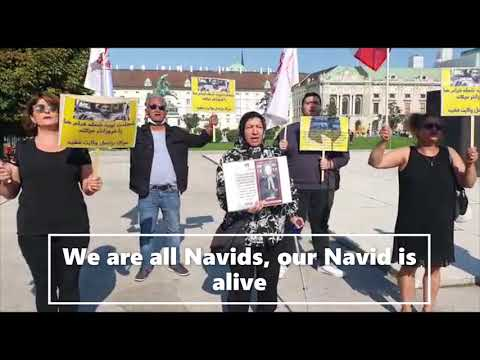 Iranians, supporters of PMOI-MEK & the NCRI in Europe protest the execution of Navid Afkari