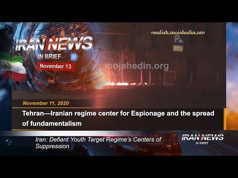 Iran news in brief, November 13, 2020
