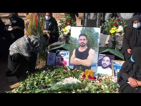 برگزاری مراسم گرامیداشت بر مزار نوید افکاری+ عکس و فیلم
